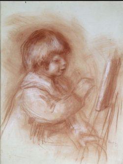 """Auguste Renoir """"Der kleine Maler"""" 45 x 58 cm"""