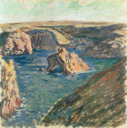 """Claude Monet """"La Roche Guibel an der Küste von Belle-Ile"""" 60 x 60 cm"""