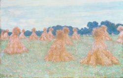 """Claude Monet """"Die Demoiselles von Giverny-kleine Heuhaufen"""" 100 x 65 cm"""