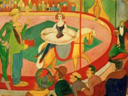 "August Macke ""Circusbild I: Kunstreiterin"" 63 x 47 cm"