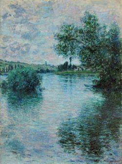 """Claude Monet """"Die Seine bei Vetheuil"""" 60 x 80 cm"""