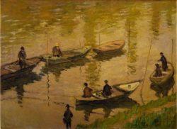 """Claude Monet """"Angler an der Seine bei Poissy"""" 81 x 59 cm"""