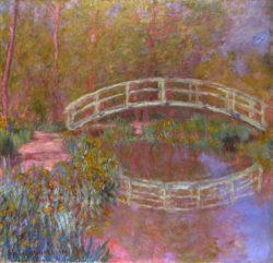 "Claude Monet ""Brücke im Garten"" 92 x 89 cm"