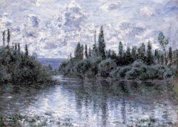 """Claude Monet """"Nebenarm der Seine bei Vetheuil"""" 80 x 60 cm"""