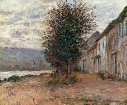 """Claude Monet """"Seineufer bei Lavacourt"""" 65 x 54 cm"""