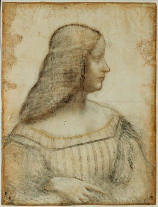 "Leonardo da Vinci ""Porträt von Isabella d'Este"" 36 x 46 cm 1"