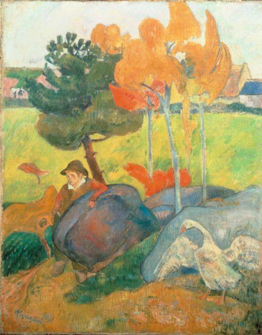 """Paul Gauguin """"Kleiner Bretone mit Gans""""  73 x 92 cm 1"""