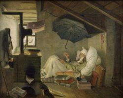 "Carl Spitzweg ""Der arme Poet"" 36 x 44 cm"