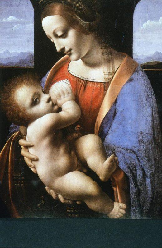 """Leonardo da Vinci """"Madonna mit dem Kinde"""" 33 x 42 cm 1"""