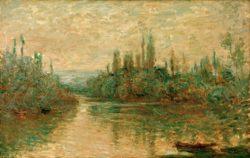 """Claude Monet """"Nebenarm der Seine bei Vetheuil"""" 72 x 46 cm"""