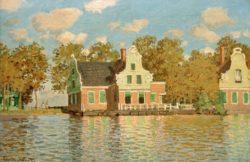 """Claude Monet """"Häuser am Wasser in Zaandam"""" 73 x 47 cm"""