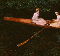 """Claude Monet """"Bootspartie auf der Epte"""" 145 x 133 cm"""