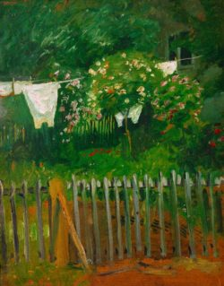 """August Macke """"Wäsche im Garten in Kandern"""" 41 x 52 cm"""