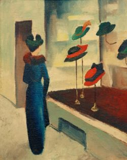 """August Macke """"Hutladen"""" 44 x 55 cm"""