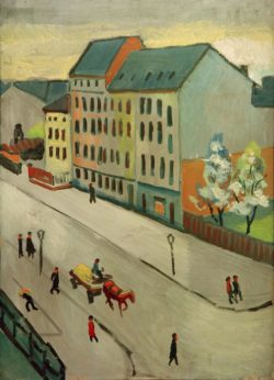 "August Macke ""Unsere Straße in Grau"" 58 x 80 cm"