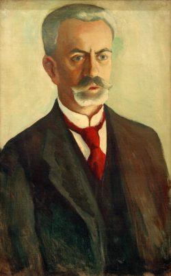 """August Macke """"Bildnis Bernhard Koehler"""" 41 x 64 cm"""