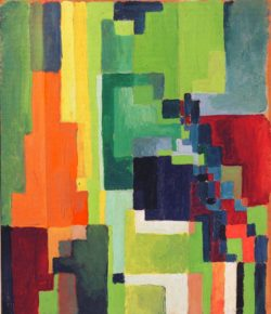 "August Macke ""Farbige Formen II"" 31 x 36 cm"