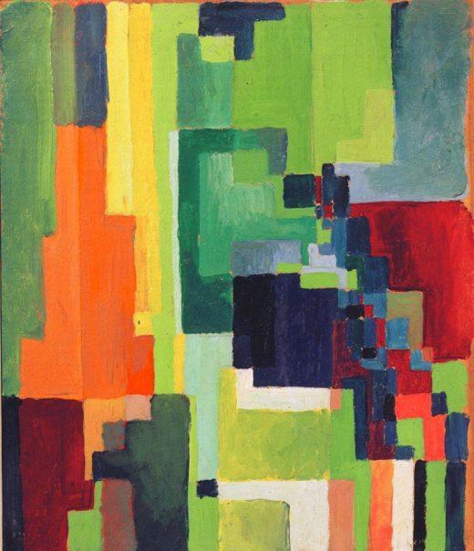 "August Macke ""Farbige Formen II"" 31 x 36 cm 1"