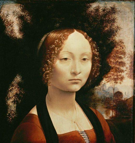 """Leonardo da Vinci """"Porträt der Ginevra Benci"""" 37 x 42 cm 1"""