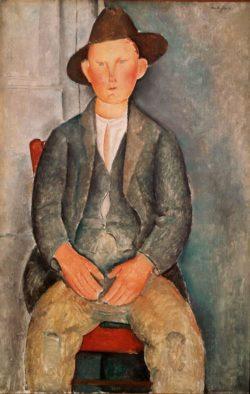 """Amedeo Modigliani """"Bauernjunge"""" 100 x 65""""cm"""