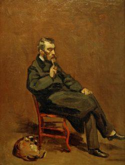 """Claude Monet """"Mann mit Pfeife"""" 34 x 45 cm"""