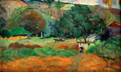 "Paul Gauguin ""Das kleine Tal (Le Vallon)""  68 x 42 cm"