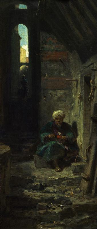 """Carl Spitzweg """"Im Orient"""" 33 x 13 cm 1"""