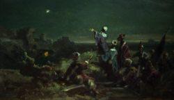 """Carl Spitzweg """"Der Stern von Bethlehem"""" 17 x 29 cm"""