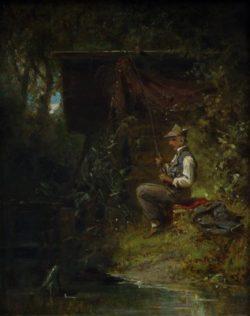 "Carl Spitzweg ""Der Angler"" 19 x 15 cm"