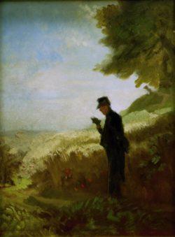 "Carl Spitzweg ""Der Spaziergang"" 38 x 29 cm"