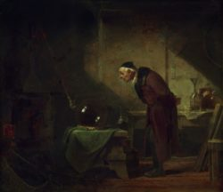 """Carl Spitzweg """"Der Chemikus"""" 35 x 40 cm"""