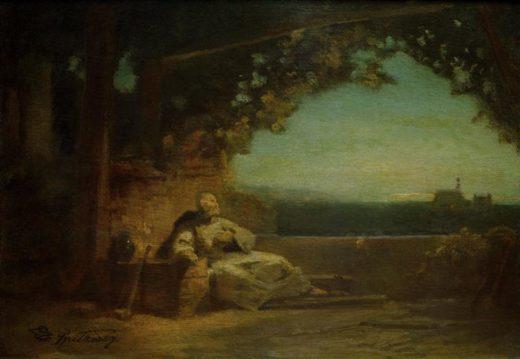 "Carl Spitzweg ""Ritter Toggenburg"" 21 x 27 cm 1"