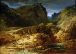 "Carl Spitzweg ""Italienische Landschaft"" 22 x 29 cm"