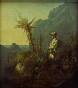 "Carl Spitzweg ""Der Naturforscher in den Tropen"" 49 x 43 cm"
