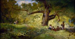 """Carl Spitzweg """"Im Walde"""" 26 x 47 cm"""
