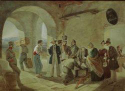 """Carl Spitzweg """"Beim Zoll"""" 43 x 59 cm"""