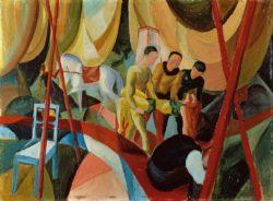 "August Macke ""Zirkus"" 64 x 47 cm"