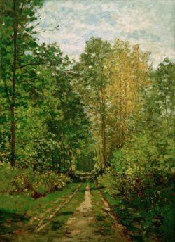 """Claude Monet """"Waldweg -Wald von Fontainebleau"""" 59 x 81 cm"""