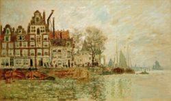"Claude Monet ""Blick auf Amsterdam"" 101 x 61 cm"