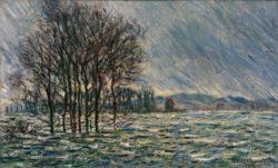 """Claude Monet """"Hochwasser"""" 100 x 60 cm"""
