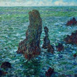 """Claude Monet """"Die Felsenpyramiden von Port-Coton"""" 65 x 65 cm"""
