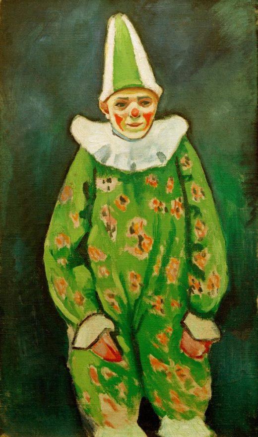 "August Macke ""Clown in grünem Kostüm"" 72 x 122 cm 1"