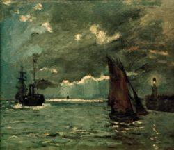 """Claude Monet """"Schiffe im Mondschein"""" 72 x 59 cm"""