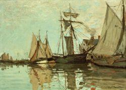"""Claude Monet """"Boote im Hafen von Honfleur"""" 65 x 48 cm"""