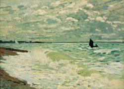 "Claude Monet ""Das Meer bei Sainte-Adresse"" 81 x 60 cm"