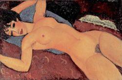 "Amedeo Modigliani ""Roter Frauenakt"" 60 x 92""cm"