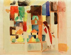 """August Macke """"Kinder am Gemüseladen I"""" 33 x 25 cm"""