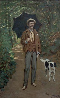 "Claude Monet ""Victor Jacquemont mit Sonnenschirm"" 61 x 100 cm"