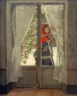 "Claude Monet ""Madame Monet mit roter Kapuze"" 79 x 99 cm"