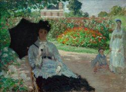 """Claude Monet """"Camille Monet mit Jean und Kindermädchen im Garten"""" 81 x 60 cm"""
